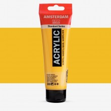 Royal Talens : Amsterdam Standard : Acrylic Paint : 120ml : Azo Yellow Medium