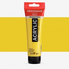 Royal Talens : Amsterdam Standard : Acrylic Paint : 120ml : Primary Yellow