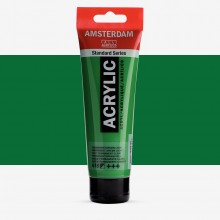 Royal Talens : Amsterdam Standard : Acrylic Paint : 120ml : Permanent Green Light