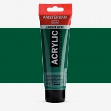 Talens : Amsterdam Standard : Acrylic Paint : 120ml : Permanent Green Deep