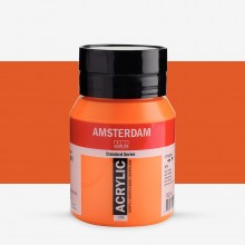 Royal Talens : Amsterdam Standard : Acrylic Paint : 500ml : Azo Orange