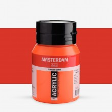 Royal Talens : Amsterdam Standard : Acrylic Paint : 500ml : Vermillion