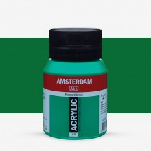 Talens : Amsterdam Standard : Acrylic Paint : 500ml : Permanent Green Light