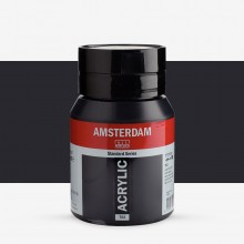 Royal Talens : Amsterdam Standard : Acrylic Paint : 500ml : Lamp Black