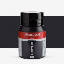 Talens : Amsterdam Standard : Acrylic Paint : 500ml : Lamp Black