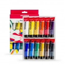 Royal Talens : Amsterdam Standard : Acrylic Paint Set : 12x20ml