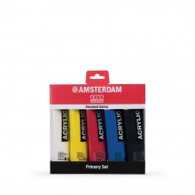 Royal Talens : Amsterdam Standard : Acrylic Paint : 120ml : Primary Set of 5