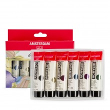 Royal Talens : Amsterdam Standard : Acrylic Paint : 20ml : Pearl Set of 6
