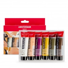 Royal Talens : Amsterdam Standard : Acrylic Paint : 20ml : Portrait Set of 6