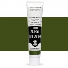 Turner : Acrylic Gouache Paint : 100ml : Olive Green 46