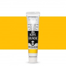 Turner : Acrylic Gouache Paint : 20ml : Permanent Yellow Deep 12