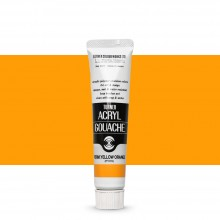 Turner : Acrylic Gouache Paint : 20ml : Permanent Yellow Orange 13