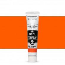 Turner : Acrylic Gouache Paint : 20ml : Permanent Orange 14