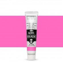 Turner : Acrylic Gouache Paint : 20ml : Pink 25