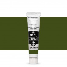 Turner : Acrylic Gouache Paint : 20ml : Olive Green 46