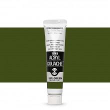 Turner : Acrylic Gouache Paint : 20ml : Olive Green 46