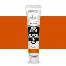Turner : Acrylic Gouache Paint : Japanesque Texture : 20ml : Japanesque Strong Orange 316