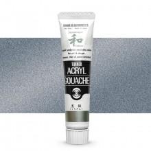 Turner : Acrylic Gouache Paint : Japanesque Texture : 20ml : Japanesque Black Silver 381