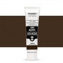 Turner : Acrylic Gouache Paint : 40ml : Sepia 35