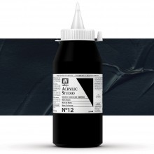 Vallejo : Studio Acrylic Paint : 1000ml : Mars Black