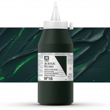 Vallejo : Studio Acrylic Paint : 1000ml : Sap Green (Hue)