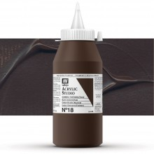 Vallejo : Studio Acrylic Paint : 1000ml : Burnt Umber (Hue)