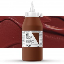 Vallejo : Studio Acrylic Paint : 1000ml : Burnt Sienna (Hue)