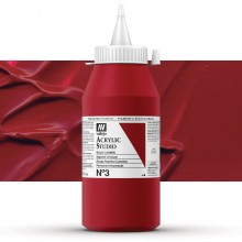 VALLEJO : STUDIO ACRYLIC PAINT : 1000ML : NAPHTHOL CRIMSON