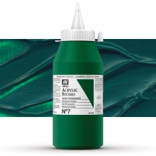 Vallejo : Studio Acrylic Paint : 1000ml : Permanent Green