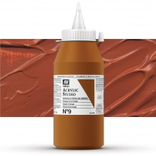 Vallejo : Studio Acrylic Paint : 1000ml : Mars Orange