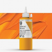 Vallejo : Studio Acrylic Paint : 200ml : Azo Yellow Orange.