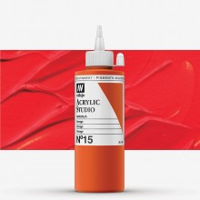 Vallejo : Studio Acrylic Paint : 200ml : Orange (Camium Orange Hue)