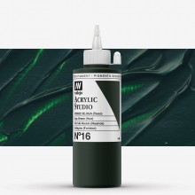Vallejo : Studio Acrylic Paint : 200ml : Sap Green (Hue)