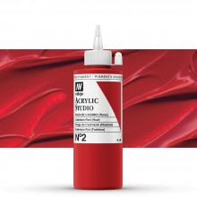 Vallejo : Studio Acrylic Paint : 200ml : Cadmium Red (Hue)