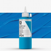 VALLEJO : STUDIO ACRYLIC PAINT : 200ML : PRIMARY BLUE