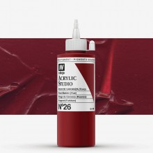 Vallejo : Studio Acrylic Paint : 200ml : Rose Madder Hue (Madder Red Hue).