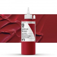 Vallejo : Studio Acrylic Paint : 200ml : Naphthol Crimson
