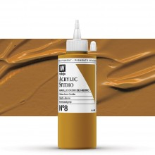 Vallejo : Studio Acrylic Paint : 200ml : Mars Yellow (Ochre)