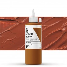 Vallejo : Studio Acrylic Paint : 200ml : Mars Orange