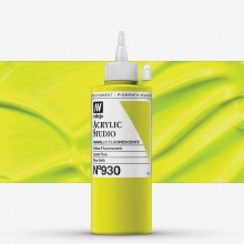 Vallejo : Studio Acrylic Paint : 200ml : Yellow Fluorescent