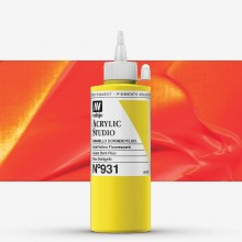 Vallejo : Studio Acrylic Paint : 200ml : Gold Yellow Fluorescent
