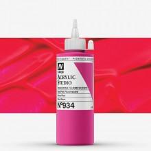 Vallejo : Studio Acrylic Paint : 200ml : Red Pink Fluorescent