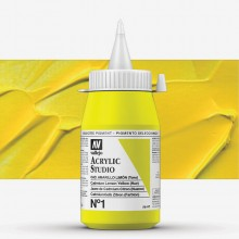 Vallejo : Studio Acrylic Paint : 500ml : Cadmium Lemon Yellow (Hue)