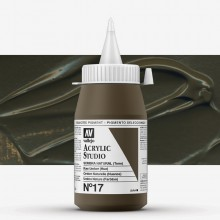 Vallejo : Studio Acrylic Paint : 500ml : Raw Umber (Hue)