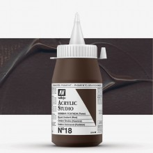 Vallejo : Studio Acrylic Paint : 500ml : Burnt Umber (Hue)