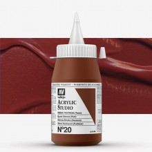 Vallejo : Studio Acrylic Paint : 500ml : Burnt Sienna (Hue)