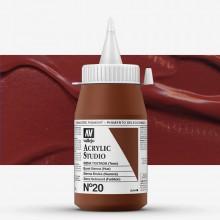 Vallejo : Studio Acrylic Paint : 500ml : Burnt Sienna (Hue).