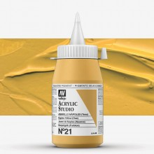 Vallejo : Studio Acrylic Paint : 500ml : Naples Yellow (Hue)