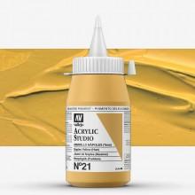 Vallejo : Studio Acrylic Paint : 500ml : Naples Yellow (Hue)