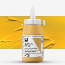 Vallejo : Studio Acrylic Paint : 500ml : Cadmium Yellow Deep (Hue)